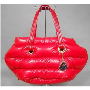Kvinders Moncler Patent Leather laktasker Dark Red DG9579 [4e71]