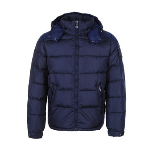 DG2662 Moncler Chevalier Herre Hooded Down Puffer Jacket Blå [06
