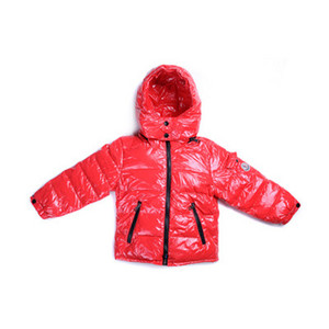 DG4635 Kids Moncler jakker Metallic Fabric Hooded Rød [8f21]