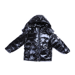 DG4693 Kids Moncler jakker Button PĂĄ den ene side Black [1aeb]