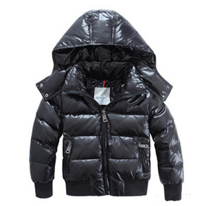 Hot Style Moncler Kids Hooded dynejakker Black DG9812 [0617]